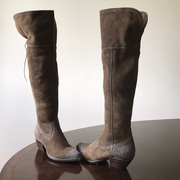 107d29ba135a Frye Shoes | Rustic Vintage Olive Green Over The Knee Boot | Poshmark